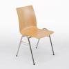 Afbeeldingen van 4-pootsstoel Sidi met houten zitschaal type U