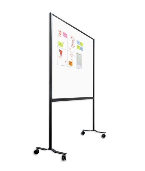 Afbeeldingen van Workboard emailstaal wit - zwart onderstel