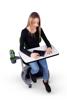Afbeeldingen van Mia stoel met schrijftablet