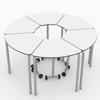 Afbeeldingen van Hexa - 3-pootstafel met opklapblad