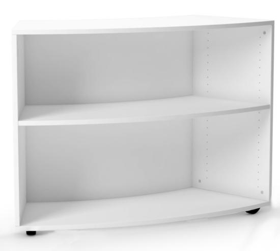Afbeeldingen van Marie - gebogen open houten kast