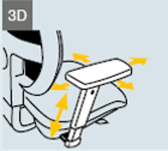 Afbeeldingen van Set 3D verstelbare armleuningen