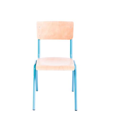 Afbeeldingen van C7540 - 4-Poots stoel - multiplex - hoogte 38 cm