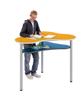 Afbeeldingen van Modern learning - organische sta-tafel - blad in HPL