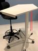 Afbeeldingen van Zit-sta-tafel - hoogteverstelbaar en verrolbaar - blad in melamine