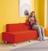 Afbeeldingen van Relax sofa - in kunstleder of gestoffeerd - met afneembare rugleuning