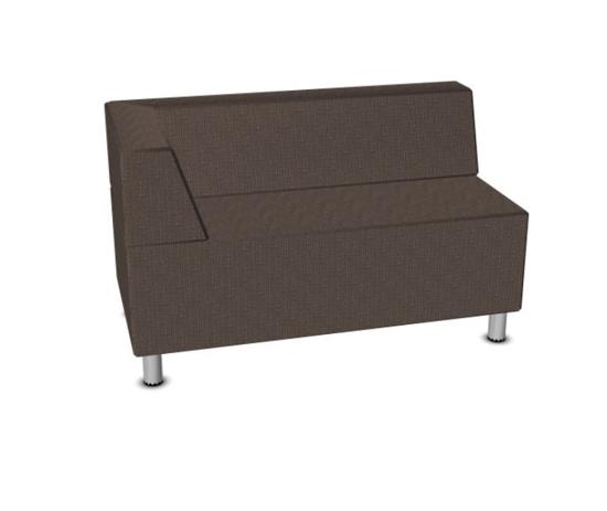 Afbeeldingen van Relax sofa - in kunstleder of gestoffeerd - met vaste rugleuning en armleuning links