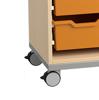 Afbeeldingen van Open eigendomskast voor kunststoflades - met 1 middenwand - optioneel op wielen
