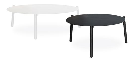 Afbeeldingen van Ola - ronde bijzettafel in metaal - Ø 49 of 59 cm