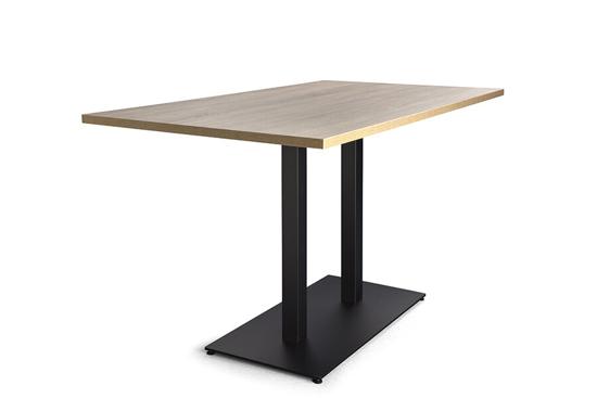 Afbeeldingen van Doppio - groep - tafels met dubbele centrale poot - met rechthoekig onderstel - hoogte 74 cm of 110 cm