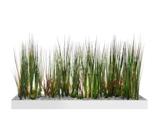 Afbeeldingen van Colline - decoratieve devider in metaal - met grassen en kruiden - in semi-natural