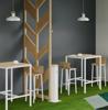 Afbeeldingen van LT - designtafel - blad in HPL - werkhoogte: 75 en 110 cm
