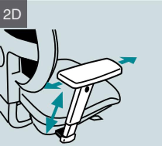 Afbeeldingen van Set 2D verstelbare armleuningen