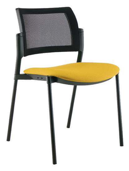 Afbeeldingen van Wi-Max R zwart - vergader- of bezoekersstoel met rug in mesh