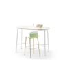 Afbeeldingen van Klik - ovale hoge tafel - werkhoogte: 110 cm - met voetensteun