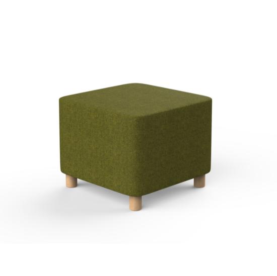 Afbeeldingen van Lotua - pouf vierkant op houten pootjes - zithoogte 45 cm